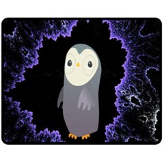 Fractal Image With Penguin Drawing Fleece Blanket (medium)  by Nexatart