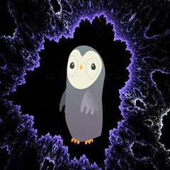Fractal Image With Penguin Drawing Magic Photo Cubes by Nexatart