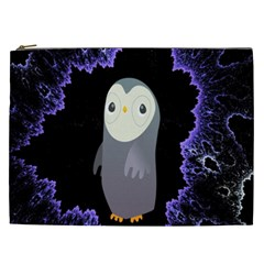 Fractal Image With Penguin Drawing Cosmetic Bag (xxl)  by Nexatart