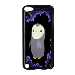 Fractal Image With Penguin Drawing Apple Ipod Touch 5 Case (black) by Nexatart