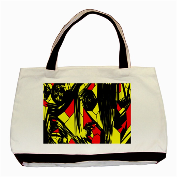 Easy Colors Abstract Pattern Basic Tote Bag (Two Sides)