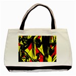 Easy Colors Abstract Pattern Basic Tote Bag (Two Sides) Back