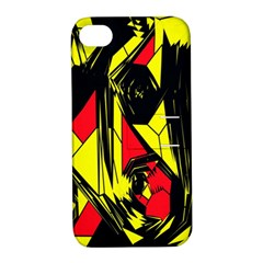 Easy Colors Abstract Pattern Apple Iphone 4/4s Hardshell Case With Stand