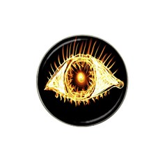 Flame Eye Burning Hot Eye Illustration Hat Clip Ball Marker by Nexatart