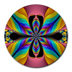 Fractal Butterfly Round Mousepads