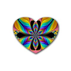 Fractal Butterfly Heart Coaster (4 Pack)