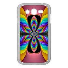 Fractal Butterfly Samsung Galaxy Grand Duos I9082 Case (white) by Nexatart
