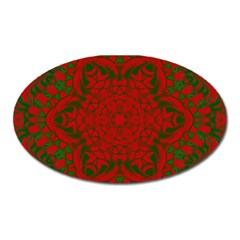 Christmas Kaleidoscope Oval Magnet by Nexatart
