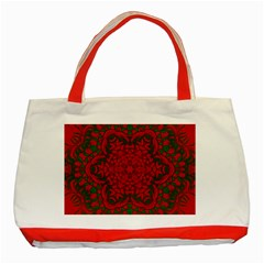 Christmas Kaleidoscope Classic Tote Bag (red)