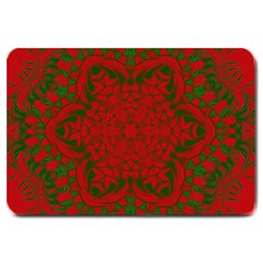 Christmas Kaleidoscope Large Doormat  by Nexatart