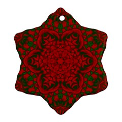 Christmas Kaleidoscope Snowflake Ornament (two Sides)