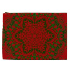 Christmas Kaleidoscope Cosmetic Bag (xxl)  by Nexatart