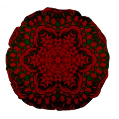 Christmas Kaleidoscope Large 18  Premium Round Cushions by Nexatart