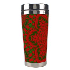 Christmas Kaleidoscope Stainless Steel Travel Tumblers by Nexatart