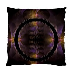 Wallpaper With Fractal Black Ring Standard Cushion Case (one Side) by Nexatart