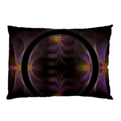 Wallpaper With Fractal Black Ring Pillow Case (two Sides) by Nexatart