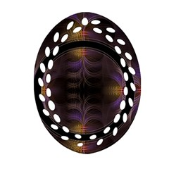 Wallpaper With Fractal Black Ring Oval Filigree Ornament (two Sides) by Nexatart