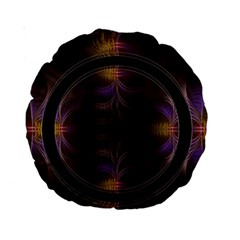 Wallpaper With Fractal Black Ring Standard 15  Premium Round Cushions by Nexatart