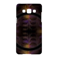Wallpaper With Fractal Black Ring Samsung Galaxy A5 Hardshell Case  by Nexatart