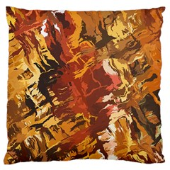 Abstraction Abstract Pattern Large Cushion Case (two Sides) by Nexatart