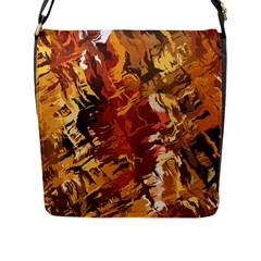 Abstraction Abstract Pattern Flap Messenger Bag (l)  by Nexatart