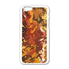Abstraction Abstract Pattern Apple Iphone 6/6s White Enamel Case by Nexatart