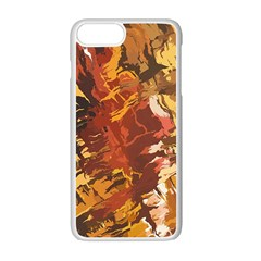 Abstraction Abstract Pattern Apple Iphone 7 Plus White Seamless Case by Nexatart