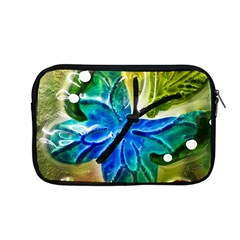 Blue Spotted Butterfly Art In Glass With White Spots Apple Macbook Pro 13  Zipper Case by Nexatart