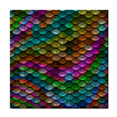 Fish Scales Pattern Background In Rainbow Colors Wallpaper Face Towel