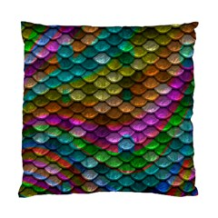Fish Scales Pattern Background In Rainbow Colors Wallpaper Standard Cushion Case (one Side) by Nexatart