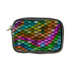 Fish Scales Pattern Background In Rainbow Colors Wallpaper Coin Purse by Nexatart