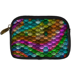 Fish Scales Pattern Background In Rainbow Colors Wallpaper Digital Camera Cases by Nexatart