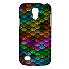 Fish Scales Pattern Background In Rainbow Colors Wallpaper Galaxy S4 Mini by Nexatart