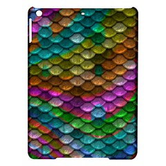 Fish Scales Pattern Background In Rainbow Colors Wallpaper Ipad Air Hardshell Cases by Nexatart