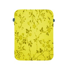 Flowery Yellow Fabric Apple Ipad 2/3/4 Protective Soft Cases