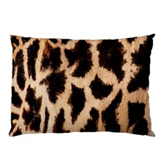 Giraffe Texture Yellow And Brown Spots On Giraffe Skin Pillow Case (two Sides)