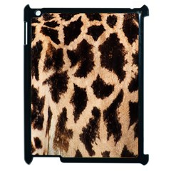 Giraffe Texture Yellow And Brown Spots On Giraffe Skin Apple Ipad 2 Case (black) by Nexatart