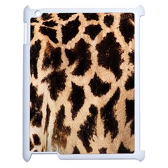 Giraffe Texture Yellow And Brown Spots On Giraffe Skin Apple Ipad 2 Case (white) by Nexatart