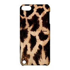 Giraffe Texture Yellow And Brown Spots On Giraffe Skin Apple Ipod Touch 5 Hardshell Case With Stand by Nexatart
