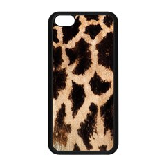 Giraffe Texture Yellow And Brown Spots On Giraffe Skin Apple Iphone 5c Seamless Case (black)