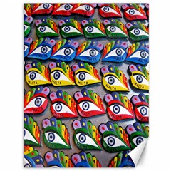 The Eye Of Osiris As Seen On Mediterranean Fishing Boats For Good Luck Canvas 36  X 48   by Nexatart