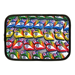 The Eye Of Osiris As Seen On Mediterranean Fishing Boats For Good Luck Netbook Case (medium)