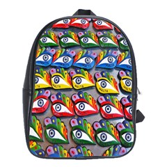 The Eye Of Osiris As Seen On Mediterranean Fishing Boats For Good Luck School Bags(large)  by Nexatart