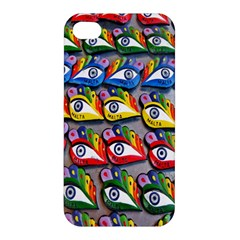 The Eye Of Osiris As Seen On Mediterranean Fishing Boats For Good Luck Apple Iphone 4/4s Hardshell Case by Nexatart
