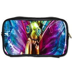 Magic Butterfly Art In Glass Toiletries Bags 2 Side by Nexatart