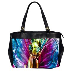 Magic Butterfly Art In Glass Office Handbags (2 Sides)  by Nexatart