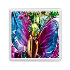 Magic Butterfly Art In Glass Memory Card Reader (square)  by Nexatart