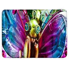 Magic Butterfly Art In Glass Samsung Galaxy Tab 7  P1000 Flip Case by Nexatart