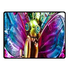 Magic Butterfly Art In Glass Double Sided Fleece Blanket (small)