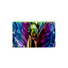 Magic Butterfly Art In Glass Cosmetic Bag (xs) by Nexatart